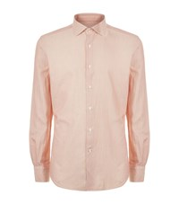 Slowear Textured Casual Shirt Male Salmon