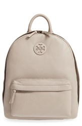 Tory Burch Pebbled Leather Backpack Grey French Grey