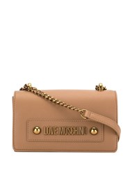 Love Moschino Faux Leather Shoulder Bag Brown