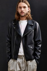 Urban Outfitters Uo Faux Leather Moto Jacket Black