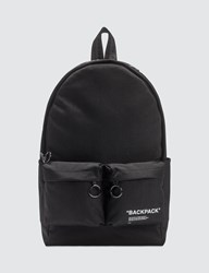 Off White Quote Backpack Black