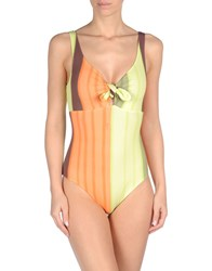 Fisico Cristina Ferrari One Piece Swimsuits Acid Green
