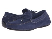 Massimo Matteo Tie Driver Navy Nubuck Women's Slip On Shoes Blue