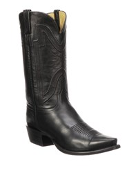 Lucchese Collins Leather Cowboy Boots Black