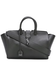 Saint Laurent Small 'Monogram Downtown Cabas' Tote Black