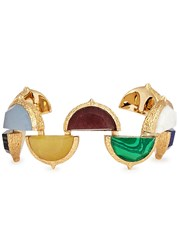 Isharya Mughal Gold Plated Cuff Multicoloured