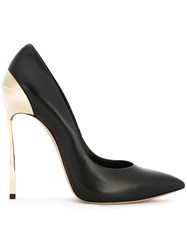 Casadei Pointed Toe Pumps Women Leather Nappa Leather 37.5 Black