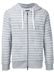 Estnation Striped Hoodie Men Cotton S Grey