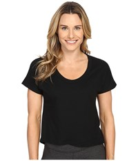 Puma Style Pb Cross Over Tee Black Women's T Shirt