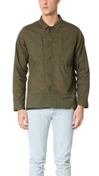 White Mountaineering Cotton Military Shirt Jacket Khaki