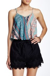 Angie Strappy Printed Crop Tank Multi