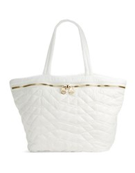 Dolce Vita Large Quilted Tote Bag White