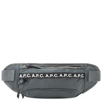 A.P.C. Lucille Tape Logo Waist Bag Grey