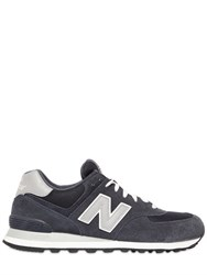 New Balance 574 Faux Suede And Mesh Sneakers