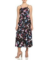 1.State Abstract Floral Pleated Wide Leg Jumpsuit Rich Black