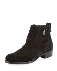 John Varvatos Lafayette Shawl Ankle Boot Black