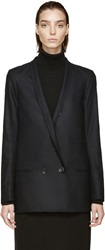 Lemaire Black Wool Double Breasted Jacket