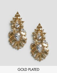 Johnny Loves Rosie Statement Earrings Silver Gold