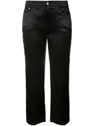 Opening Ceremony Cropped Trousers Women Silk 0 Black