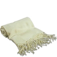 Forzieri Pale Yellow Pashmina Shawl Light Yellow