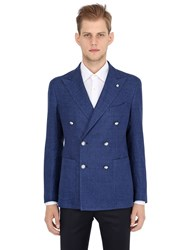 Tagliatore Cotton Linen Double Breasted Jacket