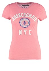 Abercrombie And Fitch Core Print Tshirt Mauve Glow