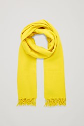 Cos Wool Cashmere Scarf Yellow