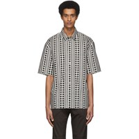 Robert Geller White And Black The Dotted Shirt