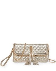 Sondra Roberts Quilted Chain Wristlet Gold