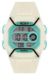 Women's Roxy 'The Guard' Digital Chronograph Silicone Strap Watch 35Mm