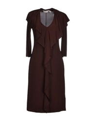 Nine Short Dresses Dark Brown