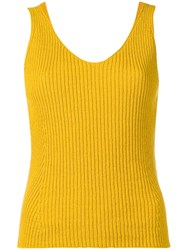 Vince Knitted Vest Yellow