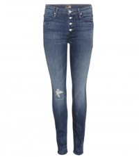 Mother The Pixie Skinny Jeans Blue