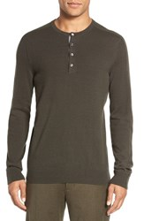 Vince Men's Trim Fit Cashmere Henley Forage