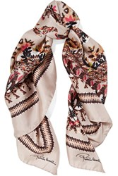Roberto Cavalli Day Dream Printed Silk Scarf Multi