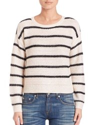 Design History Stripe Sequin Cropped Sweater