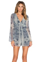 Bcbgeneration Bell Sleeve Romper Blue