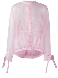 Antonio Berardi Sheer Shirt Pink Purple