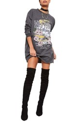 Missguided Women's Wild Youth Graphic Knit Dress