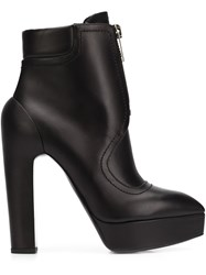 Vera Wang High Heel Zip Boots Black