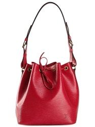 Louis Vuitton Vintage Small 'Noe' Shoulder Bag Red