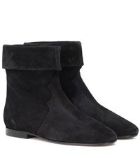 Isabel Marant Ringal Suede Ankle Boots Black