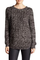 Research And Design Long Sleeve Cable Knit Sweater Gray