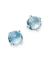 Ippolita Rock Candy Sterling Silver Mini Stud Earrings With Blue Topaz Blue Silver