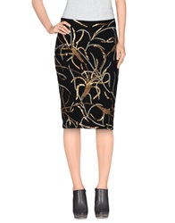 Antik Batik Knee Length Skirts Black