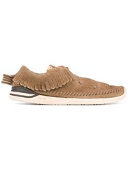 Visvim Fringed Boat Shoes Men Calf Leather Leather Rubber 8.5 Brown