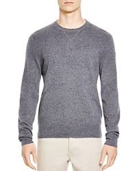 The Men's Store At Bloomingdale's Crewneck Cashmere Sweater Medium Heather Grey