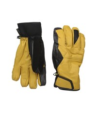 Burton Gondy Gore Tex Leather Glove Raw Hide Extreme Cold Weather Gloves Yellow