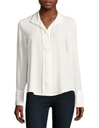 Karl Lagerfeld Long Sleeve Button Down Shirt Soft White
