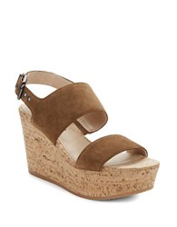 Via Spiga Kezia Suede Wedge Sandal Brown